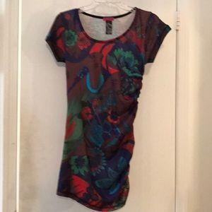 Custo Barcelona mini dress size S- multi colored